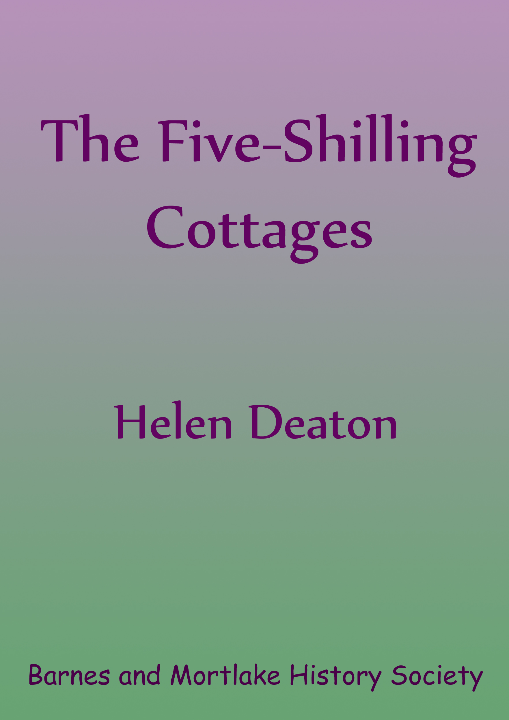 5 Shilling cottages front cover