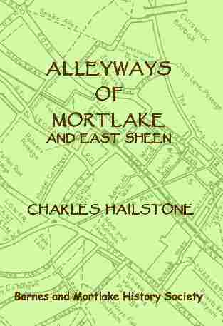 Alleyways front cover
